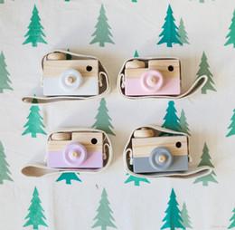 Wholesale Estilo Hot INS nórdicos Brinquedos de madeira meninas filhos favoritos novelt crianças câmera para a criança Presente de aniversário