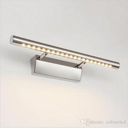 luzes de passo modernas Desconto Espelho LED luzes do banheiro lâmpada de vaidade com casa de banho interruptor de parede sconces iluminando para baixo luzes interiores 5W / 7W / 9W / 15W