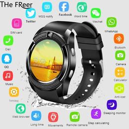 Smart Watch V8 Мужчины Bluetooth Спортивные часы Женщины Дамы дети Сенсорный экран Smartwatch с камерой Слот для SIM-карты Android-телефон cheap touch screens phones от Поставщики телефоны с сенсорными экранами