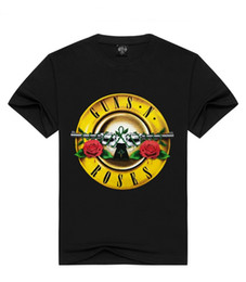 Le pistole delle rose online-Guns N Roses Stampato Casual Mens Designer Tshirts Estate Maschio Donna girocollo manica corta Tops Rock and Rock Hip Hop Tees