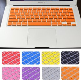 Adesivos cobrindo macbook air on-line-teclado virtual adesivos teclado de silicone capa de pele Protector para Macbook 11 12 13 15 13 17 Air 16,1 A1932