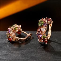 Ohrringe vereinigte staaten online-Europa und die Vereinigten Staaten, die Mona Lisa Kristallzirkon-Ohrringe verkaufen, arbeiten rosafarbene Goldohrringe Zirkon-Ohrringe Spitzen vorzüglichen Schmucksachen um