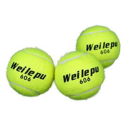 2019 pelotas de goma para gimnasia 3 unidades Verde avanzado entrenamiento de goma pelotas de tenis práctica pelota deportiva de alta calidad gimnasio gimnasio tenis entrenamiento deportivo pelota pelotas de goma para gimnasia baratos