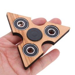 Tri Fidget Main Doigt Spinner Spin Widget Focus Jouet EDC Pocket Desktoy Triangle Cadeau En Bois pour Enfants TDAH Une décompression US Stck se détendre ? partir de fabricateur