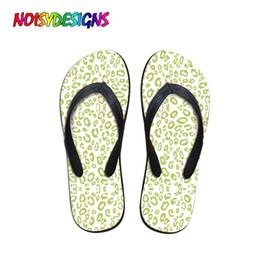 2019 sandali di menta NOISYDESIGNS Flip Flops da donna in sandali da donna Leopard Mint Pantofole da donna Scarpe da spiaggia Outdoor Design semplice Sandali da donna sandali di menta economici