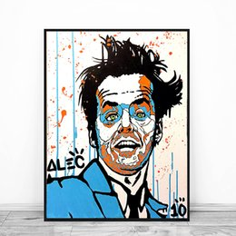 portraits nudes Coupons - Alec Monopolyingly Jack Nicholson Portrait Canvas Prints Picture Modular Paintings for Living Room Poster on The Wall Home Decoration