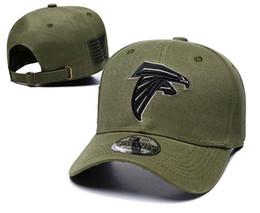 1f4dacfae2735 2018 Atlanta Adjustable hats Falcons Salute to Service Sideline Therma  Performance Snapback Hoodie Olive Baseball Caps