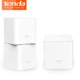 Беспроводной wi-fi мост онлайн-Tenda Nova MW3 Беспроводной маршрутизатор AC1200 Двухдиапазонный для всего дома Покрытие Wifi Mesh Система WiFi Беспроводной мост, APP Remote Manage