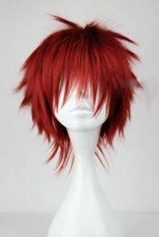 Parrucca rossa dei capelli di anime online-WIG MISS 002138 Red Short Layered Wavy Kuroko no Basuke Seijuro Akashi Hair Wig Cosplay Anime