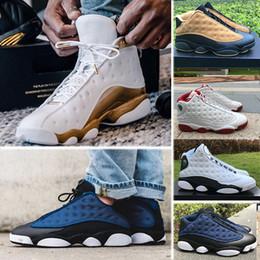 sale retailer 4ecef 5897f Nike Air Jordan 13 Retro 13 13s Mens Basketball-Schuhe Phantom Chicago GS  Hyper Royal Schwarze Katze Flints Bred Brown Olive Wheat DMP Ivory Grey  Herren ...
