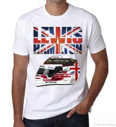 2dcd5650a9 Lewis Hamilton Casco Camiseta para hombre 2017 F1 Fórmula 1 Niños de  conducción Blanco Precio barato 100% algodón Camisetas