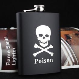2019 frascos pretos Frasco de Hip Onça de 8 oz Inoxidável Vodka Hip Flask Flagon Fresco Velho / Crânio Flagon Preto desconto frascos pretos