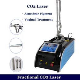2019 fraktionale laser-narbenentfernung Neue Ankunft Bruch CO2 Laser Maschine RF Metallrohr Fraxel Laser Entfernung von Narben Faltenbehandlung Bruch CO2 Laser Hauterneuerung günstig fraktionale laser-narbenentfernung