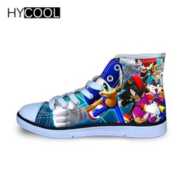 silver sonic Promo Codes - HYCOOL Children Running Shoes For Kids Boys Sonic the hedgehog Sneakers Outdoor Sports Shoes High Top Canvas Toddler Child