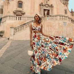 2019 vestito di notte per l'estate Oversize code 3XL 2019 Summer Women Bohemian Beach Print Dress Suit Sexy Night Party Elegante Maxi White Dress sconti vestito di notte per l'estate