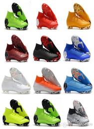 stivali di calcio formato 12 Sconti Mercurial Superfly VI 360 Elite FG KJ 6 XII 12 CR7 Ronaldo Neymar Mens donna Ragazzi scarpe da calcio alte 20 scarpe da calcio tacchetti taglia 35-45