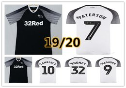 2019 maillot bleu américain 2019 2020 Derby County Soccer Jersey 32 Rooney 14 MARRIOTT 10 LAWRENCE 9 WAGHORN 8 DOWELL 7 PATERSON personnalisé Domicile Extérieur Football shirt