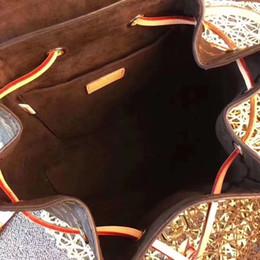 padrão do saco do mensageiro da lona Desconto New Hot Damier Azur Maré de Lona moda retro Messenger bag ombro Balde Mochila de Alta Qualidade dois padrão flor aperto design unisex