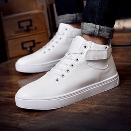 c09ce0ba0b3 2019 Ins Sneakers Men Casual Shoes Fashion Mens High top Sneakers Cool  Street Young Men Shoes Black Red White A876