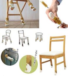 piano familiare Sconti 4 pezzi carino lana protettore per pavimento in maglia artigli per gatti sedia tavolo gamba piede calzino manica copertura home decor famiglia