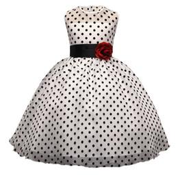 Ropa para la fiesta de navidad casual online-Baby Girl lunares vestido para niñas flor vestidos de fiesta de bodas niños princesa vestido de navidad ropa de niños ropa casual Q190522