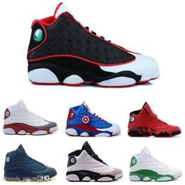 Meilleurs prix de chaussures de course en Ligne-[] vente en gros de chaussures de basket-ball pour hommes Xiii 13 noir véritable chaussures de sport rouge chaussures de course athlétique meilleur prix baskets chaussures