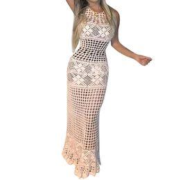 Été Femmes Tricoté Au Crochet Dentelle Ajourée Au Crochet Crème Solaire Cover Up Beach Dress Maillots De Bain Tricot De Plage Maillot De Bain Bandage # P5 ? partir de fabricateur