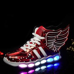 e99b8dcd6 обувь для новобрачных Скидка Красный Дети Свет Светящиеся Мальчики Девочки  Зарядки Спорт Повседневная Светодиодная Обувь Usb