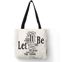 Discount tote bags trends - New Trend Simple White Linen Shoulder Bag  Letter Diamonds Bench Bottle 35c5b7178cdf