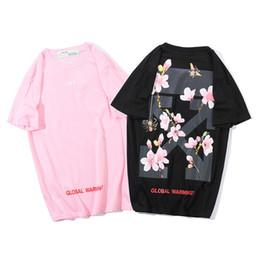 2019 fiore m 1988 Cherry Blossoms Fiori e piante Honeybee Spider Arrow stampa Lovers Uomini e donne T-shirt manica corta fiore m economici