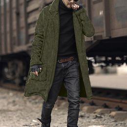 doppelter taschenmantel für männer Rabatt 2019 New Coat Men Fashion Plüsch Strickjacke lange doppelseitige Winter Wolle Taschenmantel Tops Casual Men Lose warme Mantel