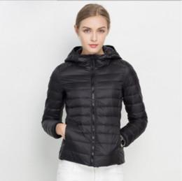 Frauen Ultra Light Down Jacket weiße Ente unten mit Kapuze Jacken Langarm warmer Mantel Parka Weiblichen Massiv Tragbare Outwear S 3XL
