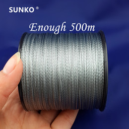 fishing floats materials Promo Codes - Enough 500M SUNKO Brand Super Strong Japanese Multifilament PE Material Braided Fishing Line 8 10 16 22 30 40 50 60 70 80 LB