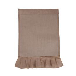 Sacchetto di acquisto libero 100pcs / lot della fabbrica di trasporto libero commerci all'ingrosso di colore solido DIY in bianco iuta e sacchetto della bandiera del giardino del pannello esterno del rivestimento del PVC da