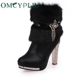2019 botas de cowboy vermelho sexy Botas de neve 2019 Inverno Novo Designer De Luxo Mulheres Bota Plus Size Sapatos de Plataforma de Moda de Alta Qualidade Mulher Sapatos de Salto Alto Das Senhoras