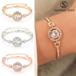 2019 braceletes indianos do dedo 2019 Mais recente moda strass Zircon pulseira de alta qualidade Gold Silver Rose charme pulseira de ouro por Mulheres Meninas do presente