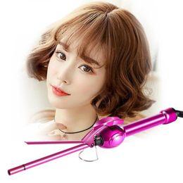2019 capelli lcd Display LCD Curling Iron professionale Bigodino di capelli Rotation Curl Wand Stick Roller Magic Ceramic Hair Styling Tool F2555 sconti capelli lcd