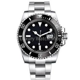 Argentina De lujo para hombre reloj zafiro calidad reloj mecánico automático 116610LN 40 mm acero inoxidable correa de reloj de cerámica anillo de reloj relojes a prueba de agua Suministro