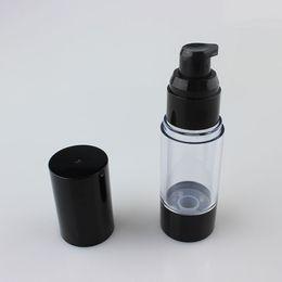Hermosas botellas al por mayor online-embalaje botella de la bomba airless Hermosa redondo de 30 ml vacío, botella de la bomba suero con cubierta de plástico negro y al por mayor de base