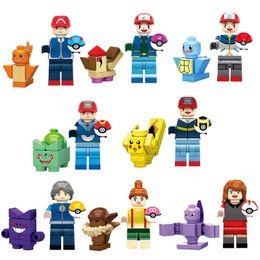 2019 juguetes de bolsillo Educativo Japón Cartoon Film Pocket Animal Charmander Bulbasaur Squirtle Mini Toy Figure Monster Building Block Brick Toy para niños juguetes de bolsillo baratos
