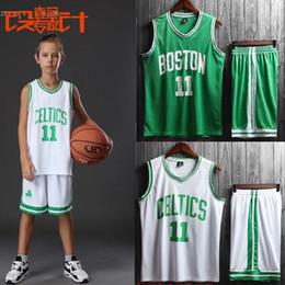 Basket-ball en jersey à col en v en Ligne-Détail enfants 2019 2020 kits de football garçons vêtements de basket-ball 2 pcs bébé jersey de basket-ball survêtement de football vêtements pour enfants boutique