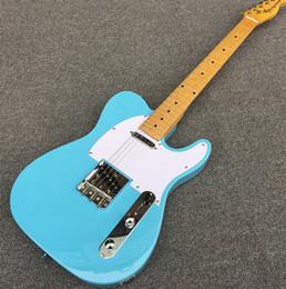 2019 électrique réel Guitare électrique Galilee TL, Son léger, manche en érable, Pickguard blanc, 2 micros à simple bobinage, Image réelle! Livraison gratuite! électrique réel pas cher