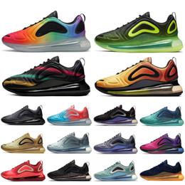 Scarpe arancioni al neon online-Nike Air max 720 Nuove scarpe da tennis runner 2019 BE TRUE Black Neon Streak Sport Scarpe da corsa Midnight Navy Laser Orange Triple Black Designer Shoes 5-11