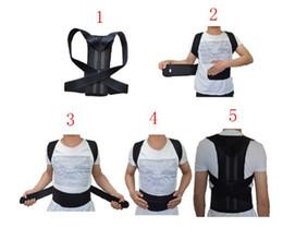 Fascia di spalla per la postura online-Correttore di postura regolabile unisex Supporto per la schiena Corsetto per il corpo Cintura per la schiena Brace per spalla Postura per la salute Cintura per shaper per il corpo