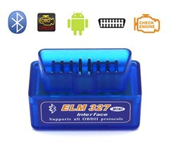 mini interfaz elm327 Rebajas 2019New ELM 327 Interfaz Bluetooth Escáner de diagnóstico de escáner de auto para auto Automotivo Escaner Automotriz Mini V2.1 ELM327 OBD2 Enviar DHL