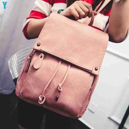 2019 опрятные рюкзаки средней школы Рюкзак женская мода дизайнер рюкзаки сумки на ремне искусственная кожа опрятный стиль средней школы студент сумка розовый рюкзак девушка дорожная сумка скидка опрятные рюкзаки средней школы