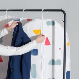 Saco de armazenamento de roupas de armazenamento em casa transparente roupas à prova de poeira organizador vestuário terno casaco capa protetora de poeira pendurado guarda-roupa de armazenamento de