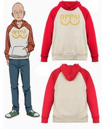 2019 hoodies do anime para homens Um Homem Soco Pulôver Hoodies Herói Saitama Oppai Moletom Com Capuz Anime Cosplay Com Capuz Casaco de Manga Comprida Camisolas desconto hoodies do anime para homens