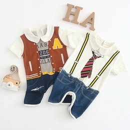 08cf1315caa7 jumpsuit jeans baby Coupons - Children Jumpsuits Printed Jumpsuits Short  Sleeve Turn-down Collar Kid