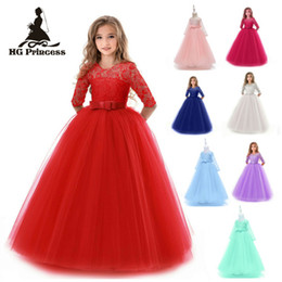 Summer Girl Lace Dress Longue Tulle Teen Girl Party Dress Élégant Enfants Vêtements Enfants Robes Pour Filles Princesse Robe De Mariage ? partir de fabricateur